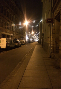 Dresden Neustadt by Night.