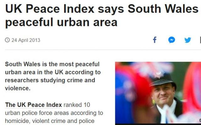 UK peace index BBC screengrab