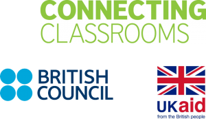 Connecting classrooms, British Council and UK Aid logos