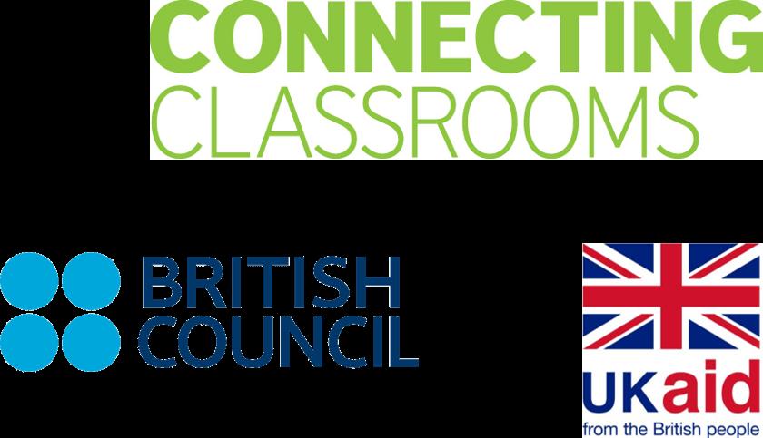 Connecting classrooms, British Council and UK Aid logos