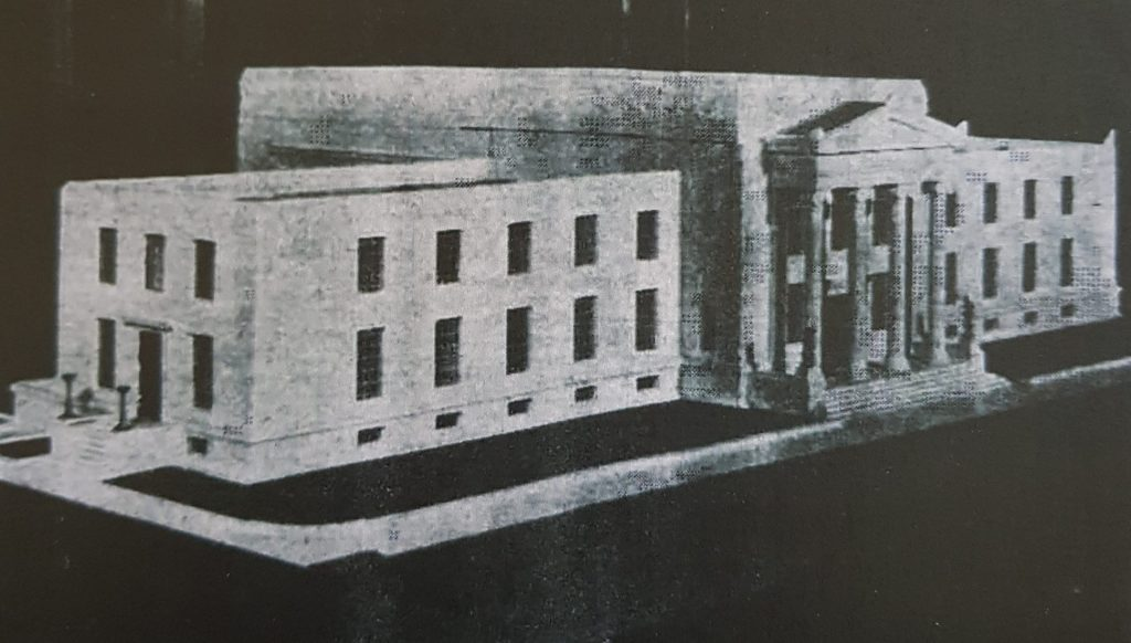Architects' Model of the proposed Temple of Peace design, 1929, Percy Thomas Partnership